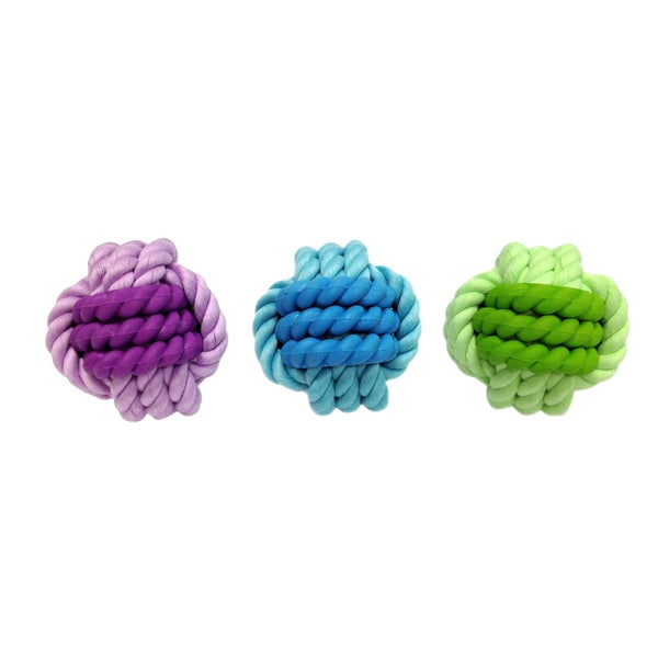 Multipet Nuts for Knots Rope with Rubber Dog Toys