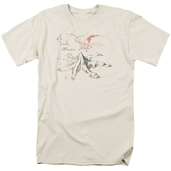 The Hobbit/Lonely Mountain Short Sleeve Adult T-Shirt 18/1 in Cream