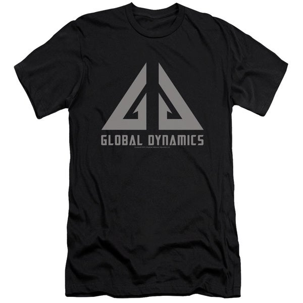 Eureka/Global Dynamics Logo Short Sleeve Adult T-Shirt 30/1 in Black