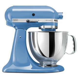 KitchenAid KSM150PSCO Artisan Series 5-Quart Stand Mixer with Pouring Shield, Cornflower Blue