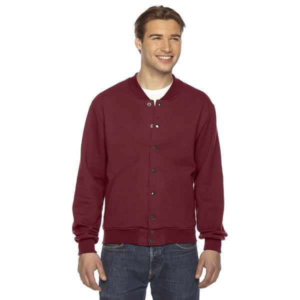 American Apparel Unisex Cranberry Flex Fleece Jacket
