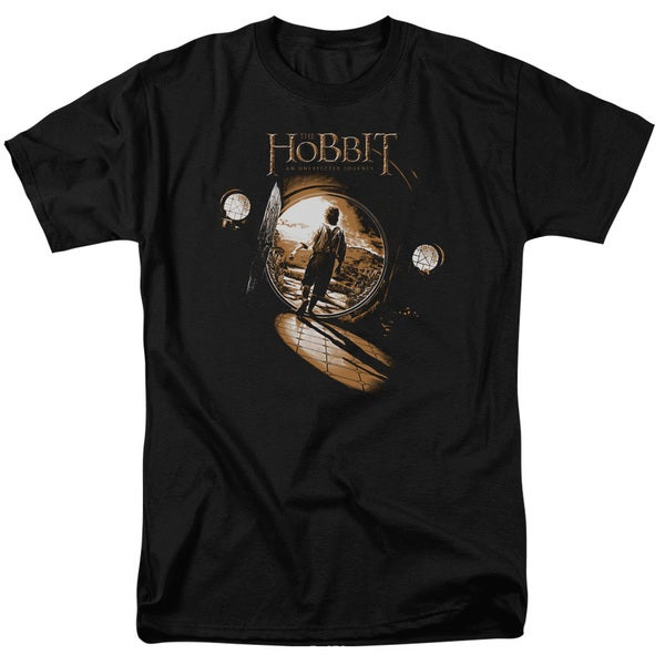 The Hobbit/Hobbit Hole Short Sleeve Adult T-Shirt 18/1 in Black