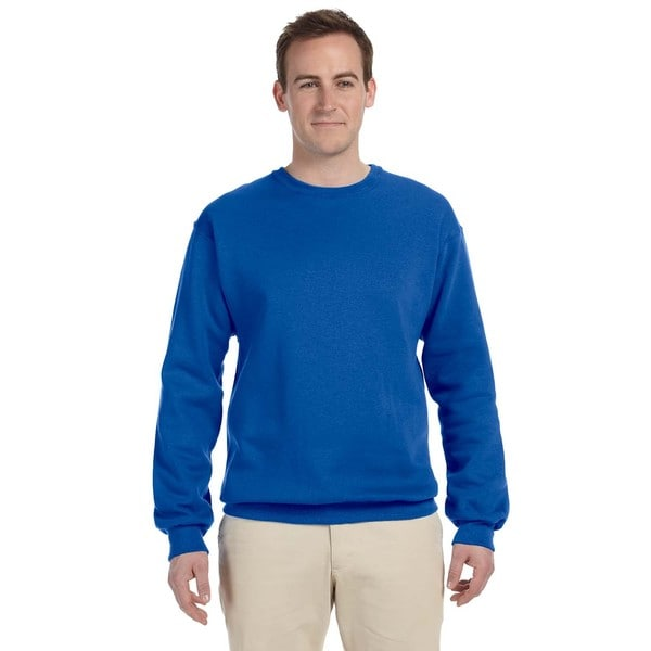 Supercotton Men's Royal 70/30 Fleece Big and Tall Crew-neck Sweater