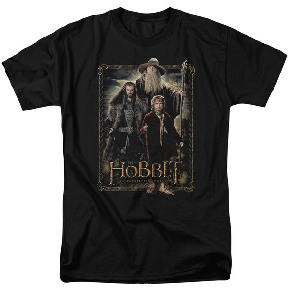 The Hobbit/The Three Short Sleeve Adult T-Shirt 18/1 in Black