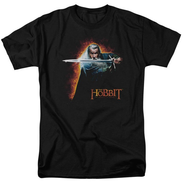 The Hobbit/Secret Fire Short Sleeve Adult T-Shirt 18/1 in Black