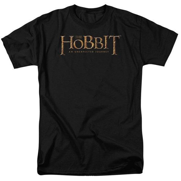 The Hobbit/Logo Short Sleeve Adult T-Shirt 18/1 in Black
