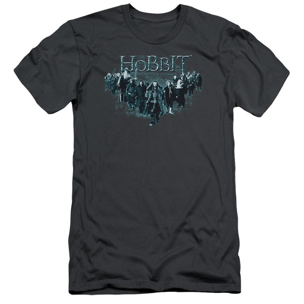The Hobbit/Thorin and Company Short Sleeve Adult T-Shirt 30/1 in Charcoal