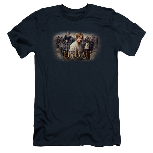 The Hobbit/Hobbit Rally Short Sleeve Adult T-Shirt 30/1 in Navy