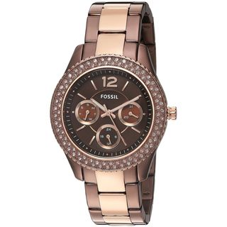 Fossil Women's ES4079 'Stella' Multi-Function Crystal Two-Tone Stainless Steel Watch