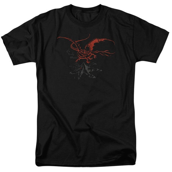 The Hobbit/Smaug Short Sleeve Adult T-Shirt 18/1 in Black