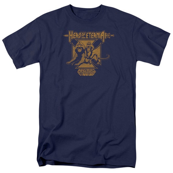 Masters Of The Universe/Hero Of Eternia Short Sleeve Adult T-Shirt 18/1 in Navy