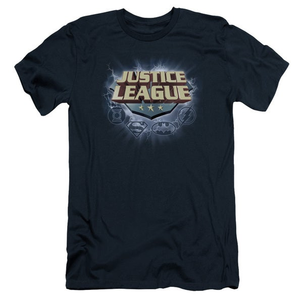 JLA/Storm Logo Short Sleeve Adult T-Shirt 30/1 in Navy