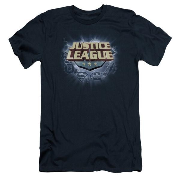 JLA/Storm Logo Short Sleeve Adult T-Shirt 30/1 in Navy