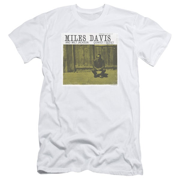 Miles Davis/Miles and Milt Short Sleeve Adult T-Shirt 30/1 in White