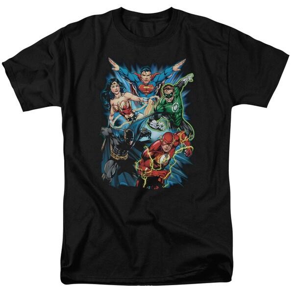 JLA/Jl Assemble Short Sleeve Adult T-Shirt 18/1 in Black