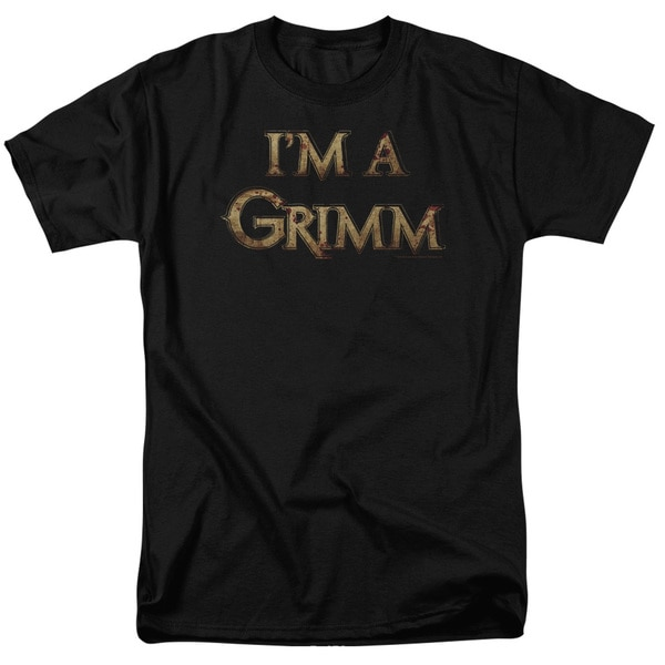 Grimm/I'M A Grimm Short Sleeve Adult T-Shirt 18/1 in Black