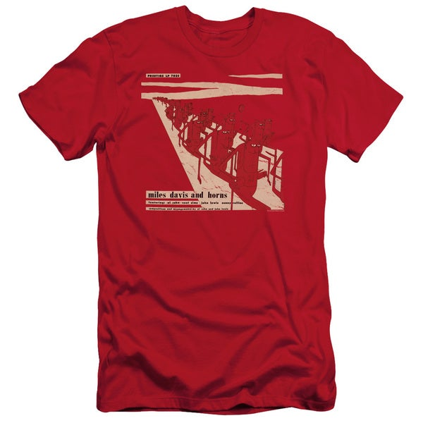 Miles Davis/Davis and Horn Short Sleeve Adult T-Shirt 30/1 in Red