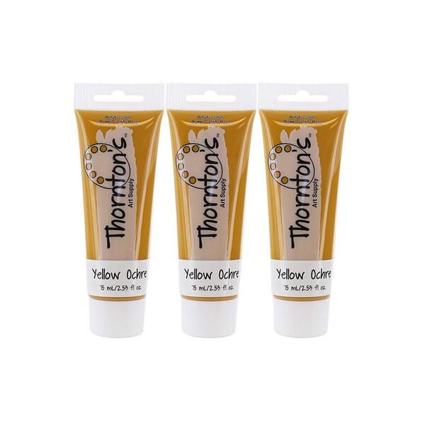 Thornton's Art Supply Yellow Ochre 75-milliliter (2.54-ounce) Acrylic Paint Tube