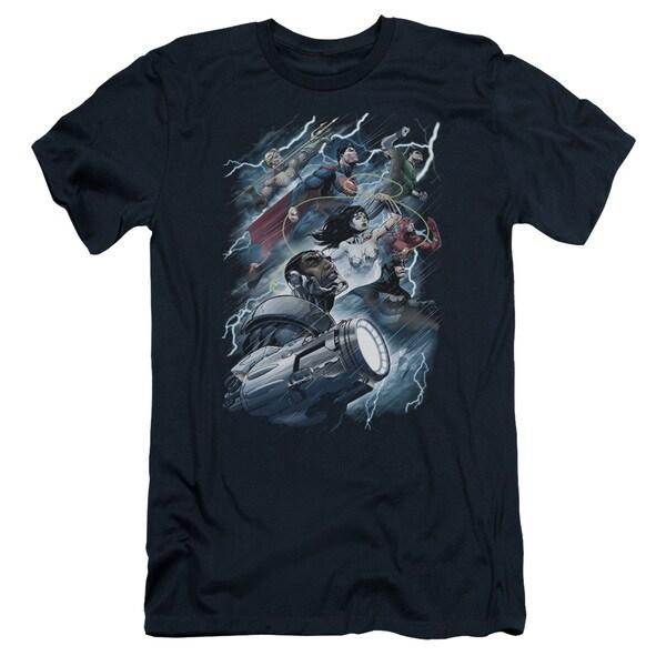 JLA/Ride The Lightening Short Sleeve Adult T-Shirt 30/1 in Navy