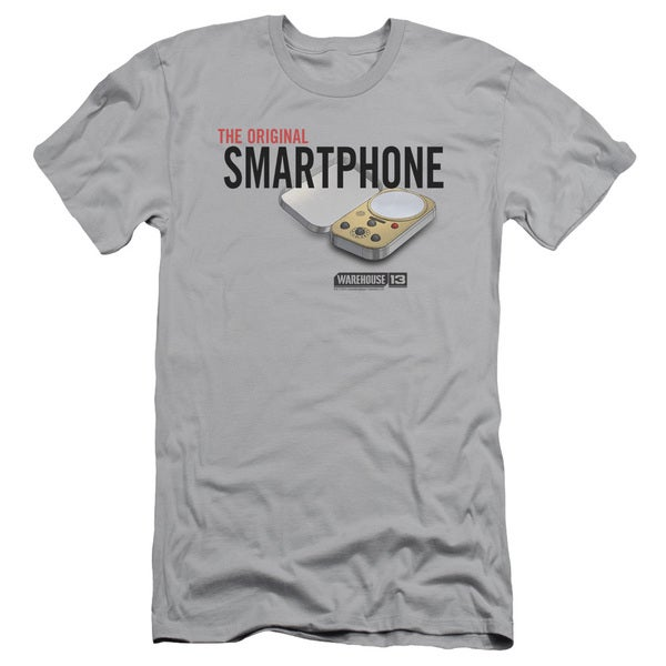 Warehouse 13/Original Smartphone Short Sleeve Adult T-Shirt 30/1 in Silver