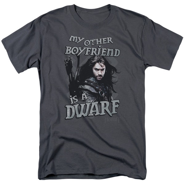 The Hobbit/Other Boyfriend Short Sleeve Adult T-Shirt 18/1 in Charcoal