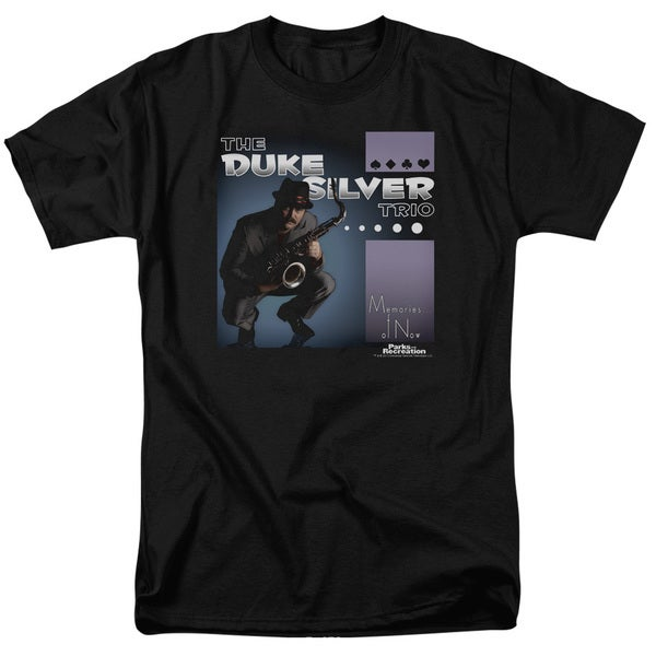 Parks & Rec/Album Cover Short Sleeve Adult T-Shirt 18/1 in Black