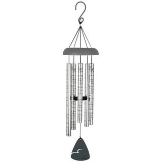 Carson Home Accents 'Live, Laugh, Love' Silver Aluminum 30-inch Sonnet Wind Chime