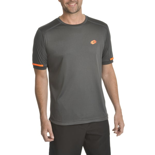 Lotto Men's Polyester Contrast Taping Detail T-shirt