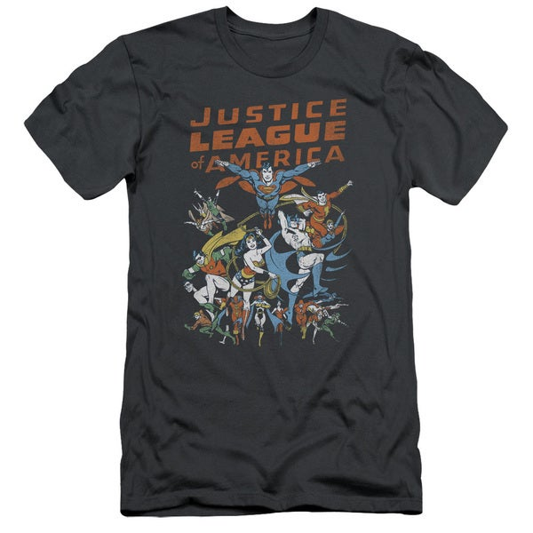 JLA/Big Group Short Sleeve Adult T-Shirt 30/1 in Charcoal