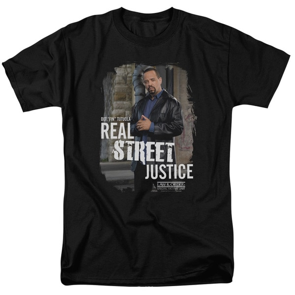 LO:SVU/Street Justice Short Sleeve Adult T-Shirt 18/1 in Black