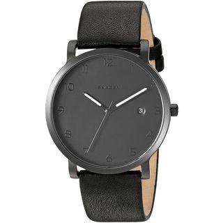 Skagen Men's SKW6308 'Hagen' Black Leather Watch
