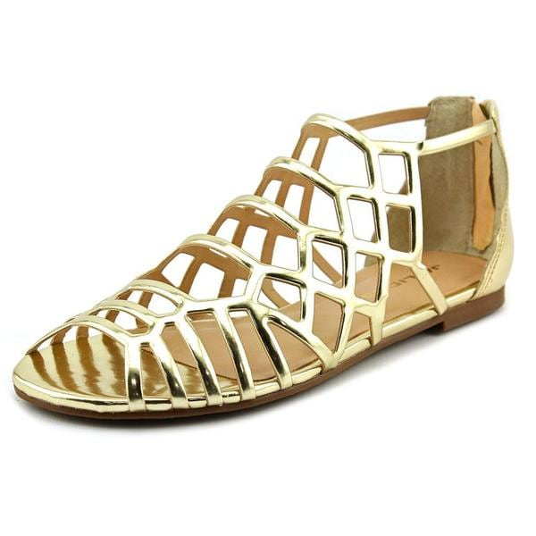 J/Slides Women's Alex Gold Synthetic Sandals