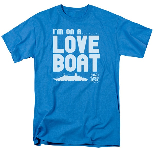 Love Boat/I'M On A Short Sleeve Adult T-Shirt 18/1 in Turquoise