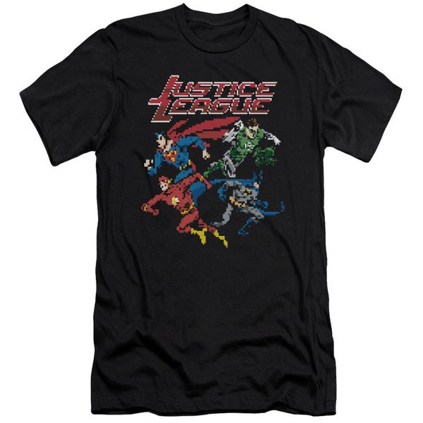 JLA/Pixel League Short Sleeve Adult T-Shirt 30/1 in Black