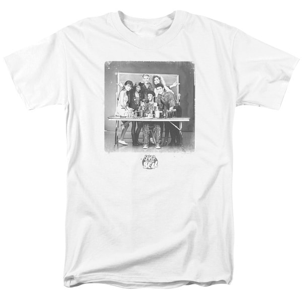 Saved By The Bell/Class Photo Short Sleeve Adult T-Shirt 18/1 in White