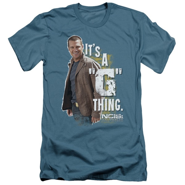 Ncis La/G Thing Short Sleeve Adult T-Shirt 30/1 in Slate