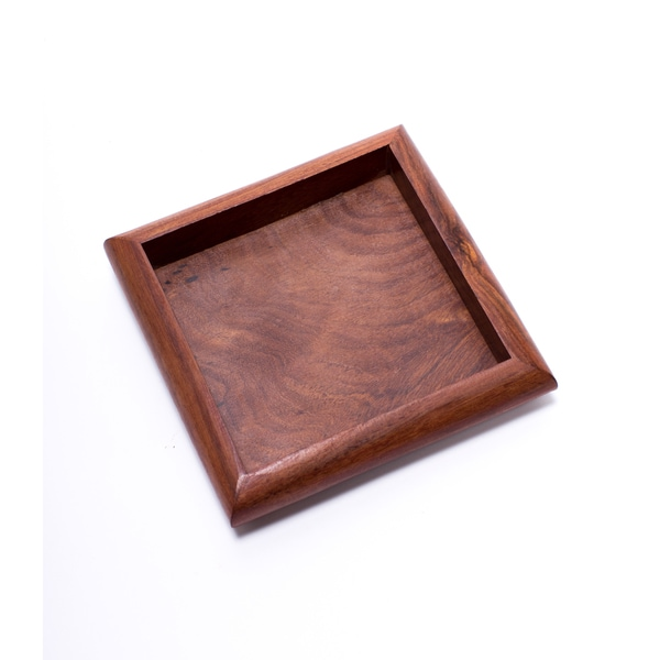 Solid Rosewood Tray - Square (India)