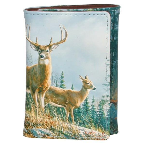 Buxton Wildlife Autumn Whitetail Deer Three-fold Wallet
