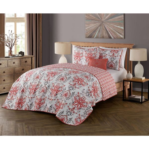 Avondale Manor Tabitha 5-piece Polyester Microfiber Floral Quilt Set