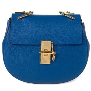 Chloe Drew Shoulder Bag in Blue w/ Gold Hardware Size Medium