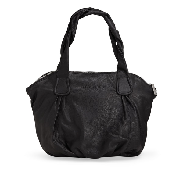 Liebeskind Berlin LucyC Oversized Black Leather Shoulder Handbag