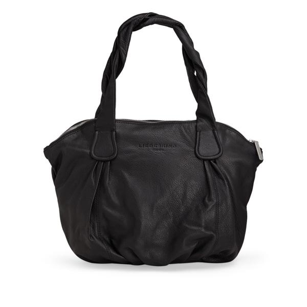 Liebeskind Berlin LucyC Oversized Black Leather Shoulder Handbag