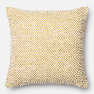 Poplin Diamond Geometric Woven Wool Down Feather or Polyester Filled 22-inch Throw Pillow or Pillow Cover