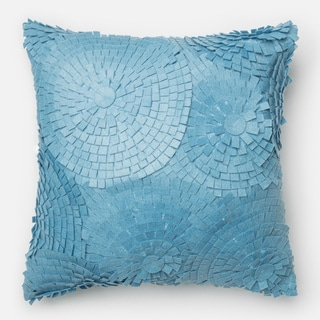 Felted Modern Ruffled Down Feather or Polyester Filled 18-inch Throw Pillow or Pillow Cover