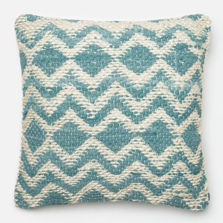 Woven Chevron Down Feather or Polyester Filled 22-inch Throw Pillow or Pillow Cove