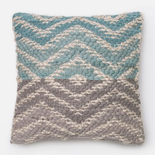 Woven Two-tone Geometric Down Feather or Polyester Filled 18-inch Throw Pillow or Pillow Cover