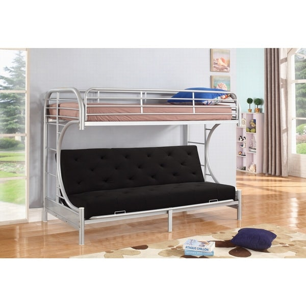 Jordan Twin C Shaped Silver Metal Futon And Bunkbed Combo By Nathaniel