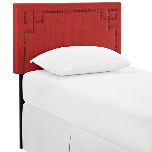 Josie Twin Size Atomic Red Fabric Headboard