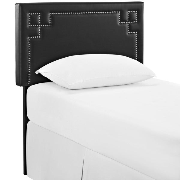 Josie Black Vinyl Headboard