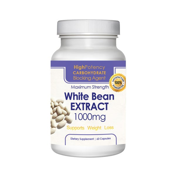 Pure 1,000-milligram White Kidney Bean Extract (60 Capsules)